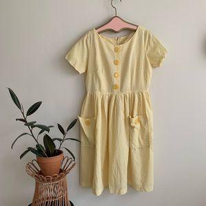 VTG 60's Flocked Velvet Shirtwaist Dress